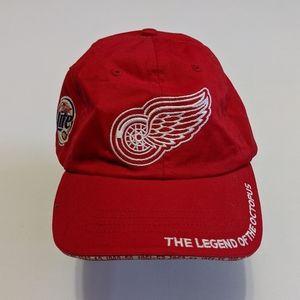 Vintage Detroit Redwings Miller Light Hat